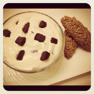 Gingerbread Biscotti w/ a Chocolate Chip Dip